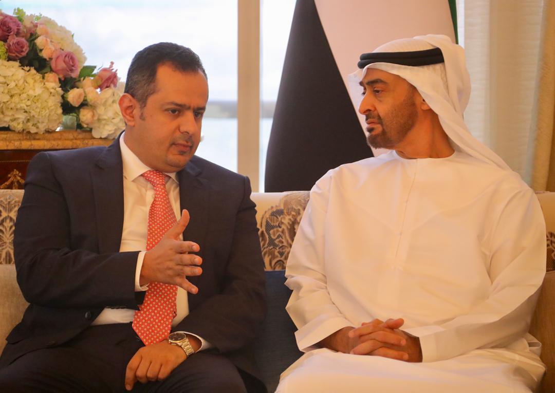 رئيس الوزراء يناقش مع ولي عهد أبوظبي المستجدات اليمنية