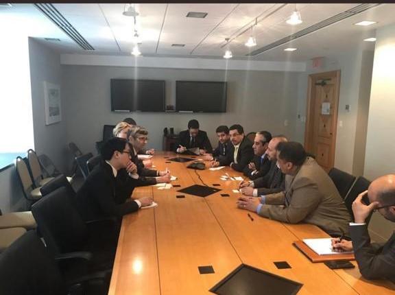وفد اليمن المشارك في اجتماعات البنك الدولي وصندوق النقد يلتقي نائبا مساعد وزير الخارجية الامريكية